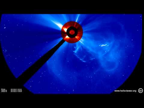 Large Solar Filament Erupts, Creates Partial Halo CME (February 21, 2015)
