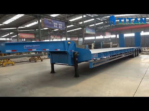 Different Types Of Low Bed Trailers - What Is Lowbed Trailer? Low Loader Excavator Trailer For Sale