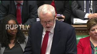 UK: Corbyn heckled and booed in parliament over Salisbury statement