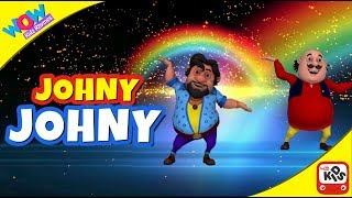 Johnny Johnny - Yes Papa | Motu Patlu I Wow Kidz Rhymes