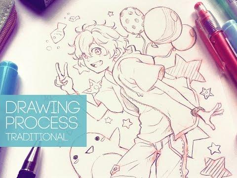 ★ Nagisa Hazuki  Drawing Process