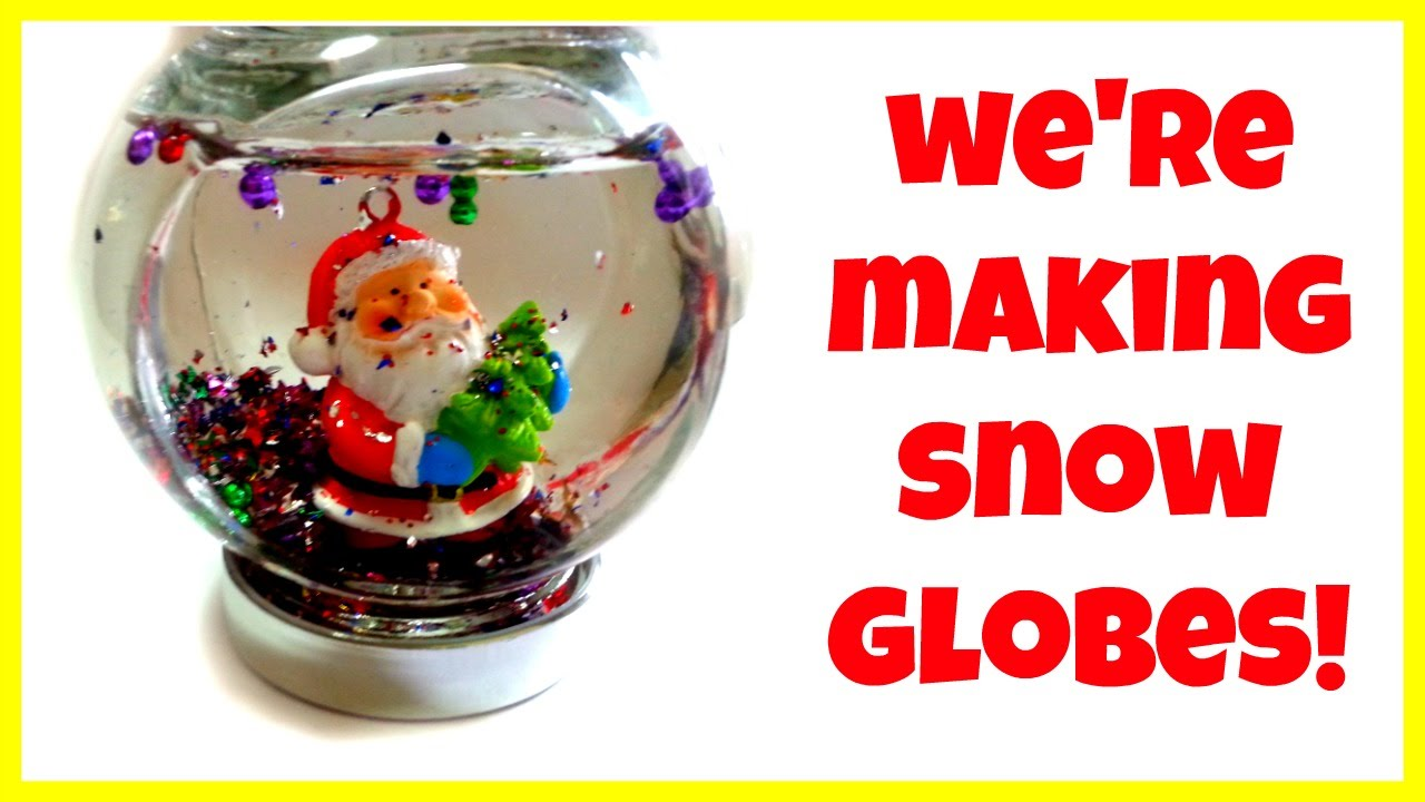 how to make christmas snow globes easy fun a kid vid for fun watching youtube. Black Bedroom Furniture Sets. Home Design Ideas