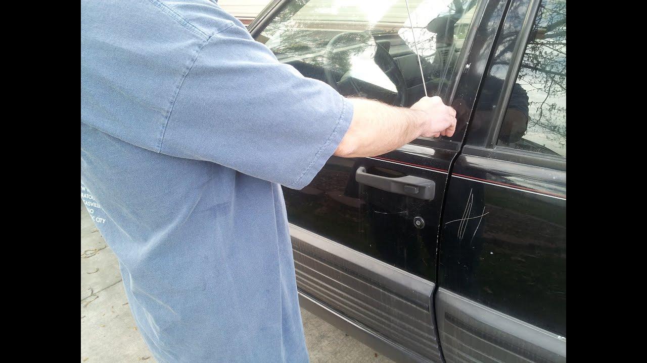 Diy, How to unlock your car door with a hanger demonstration, hack ...