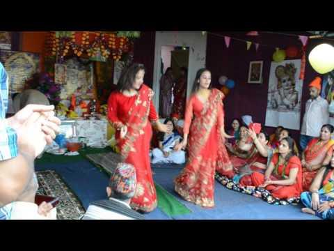 Krishna Bhajan Dance by Alisha and Sujata at GR