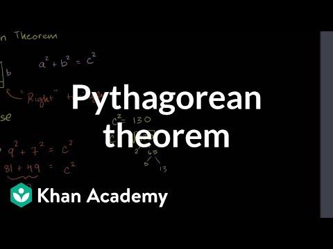 Pythagorean theorem | Right triangles and trigonometry | Geometry | Khan Academy