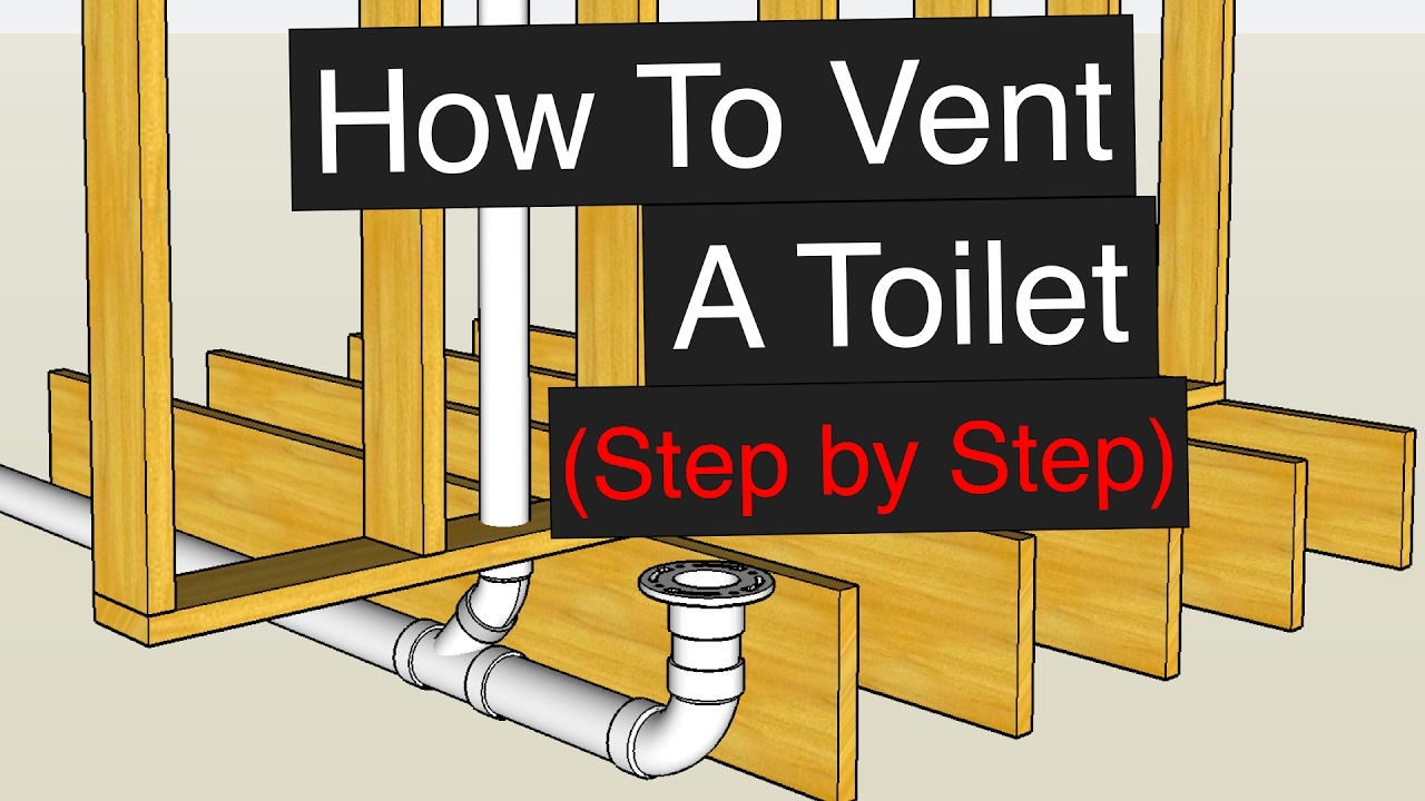 How To Vent Plumb A Toilet Step By Youtube Double Kitchen Sink Drain Plumbing Diagram Car Interior Design