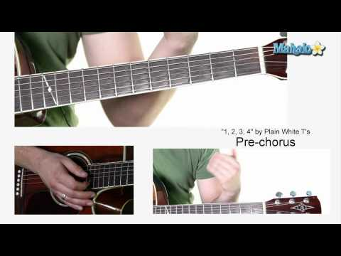 "How to Play ""1,2,3,4"" by Plain White T's on Guitar"