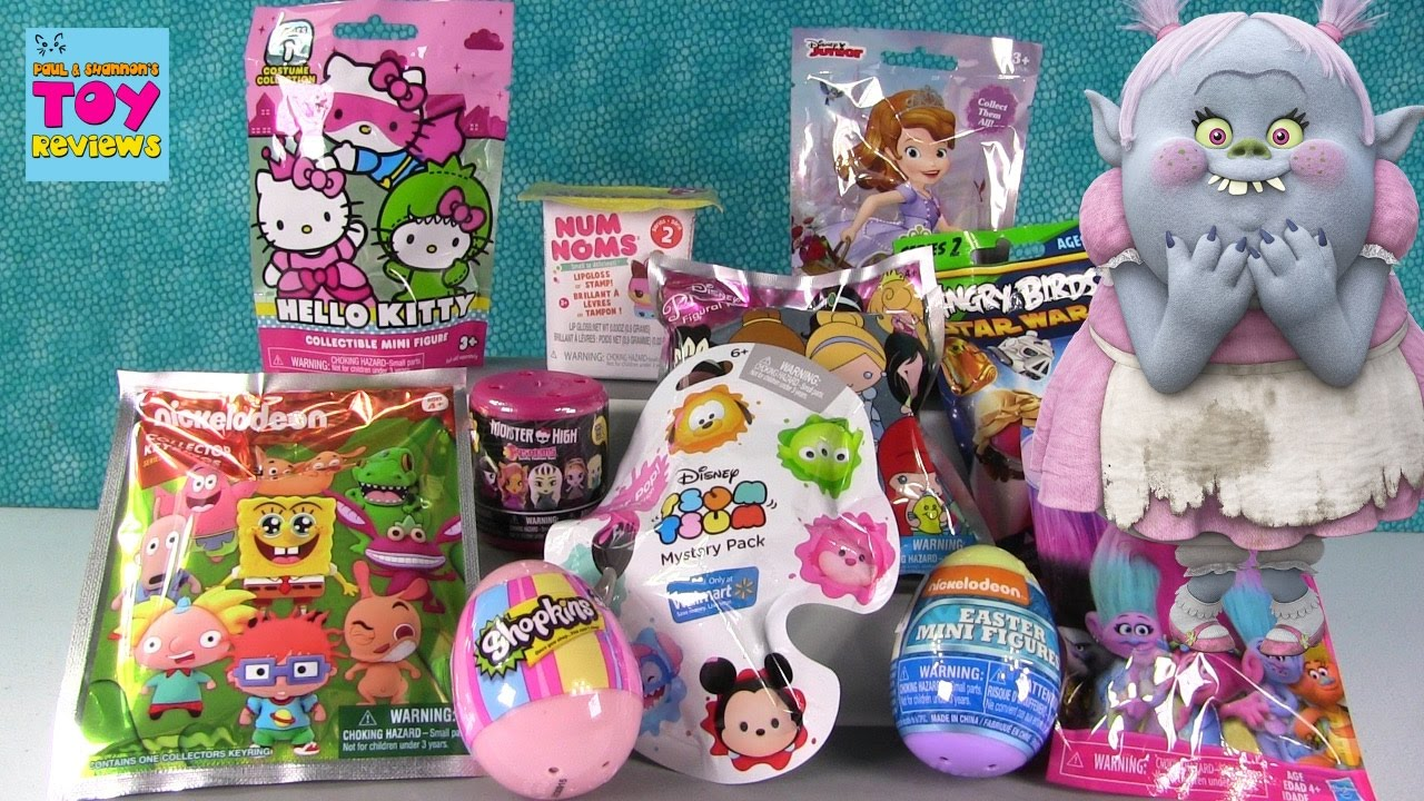 Disney Trolls Angry Birds Num Noms Blind Bag Toy Opening