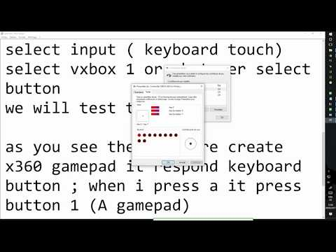 How to emulate x360 gamepad with keyboard on PC - YouTube