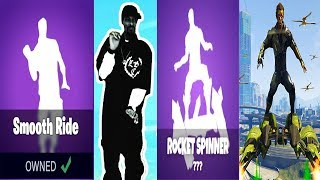 ALL NEW FORTNITE EMOTE/DANCES IN REAL LIFE! (Click,Smooth Ride,rocket spinner,confused)