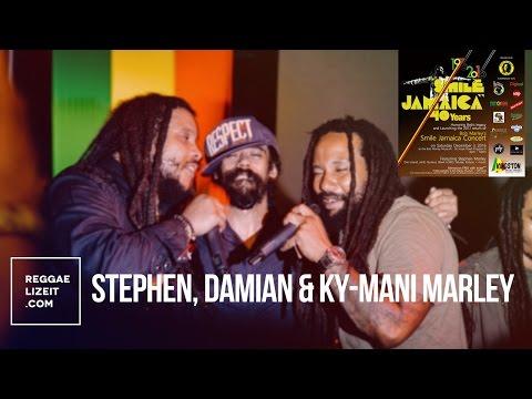 Stephen, Damian & Ky-mani Marley @ Smile Jamaica 40th anniversary - December 2016