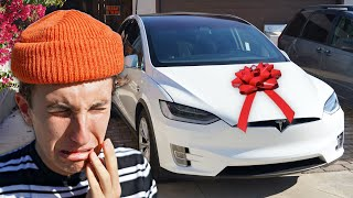Surprising MARKO With a TESLA!! ( 18th birthday )