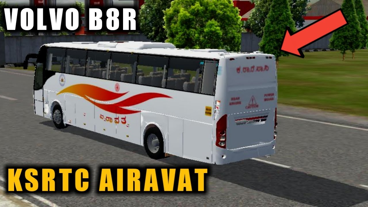 Download KSRTC Airavat Volvo B8R Bus Mod For Bus Simulator Indonesia|Bussid V3.3.3