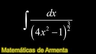 integracion por sustitucion trigonometrica ejemplo 20