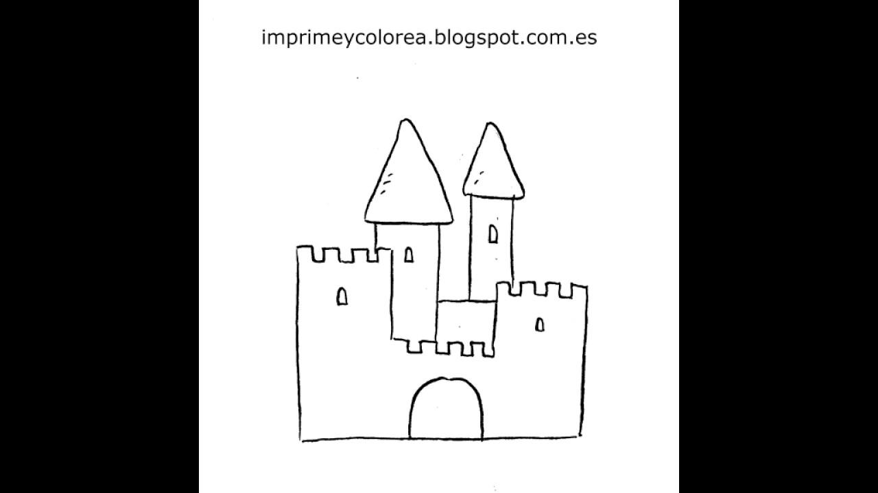 Dibujo de un castillo para imprimir y colorear - YouTube