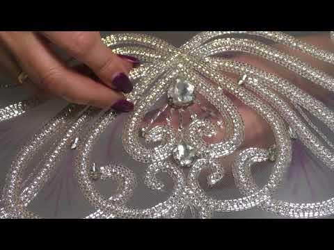 Платье с бисером крючком