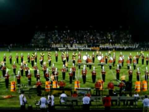 BHS Bellefontaine, Ohio Band Performance 2009 Ben Logan Game