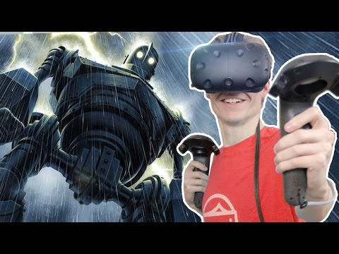 BECOME THE IRON GIANT IN VIRTUAL REALITY! | VRobot (HTC Vive VR Gameplay)