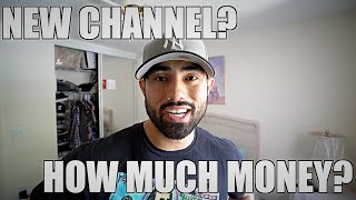 NEW CHANNEL? HOW MUCH MONEY? YOUTUBE PLAQUE?