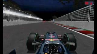 Formula 1 Challenge - RedBull-Renault RB6 em Marina Bay (Delux Gold Series 2010)