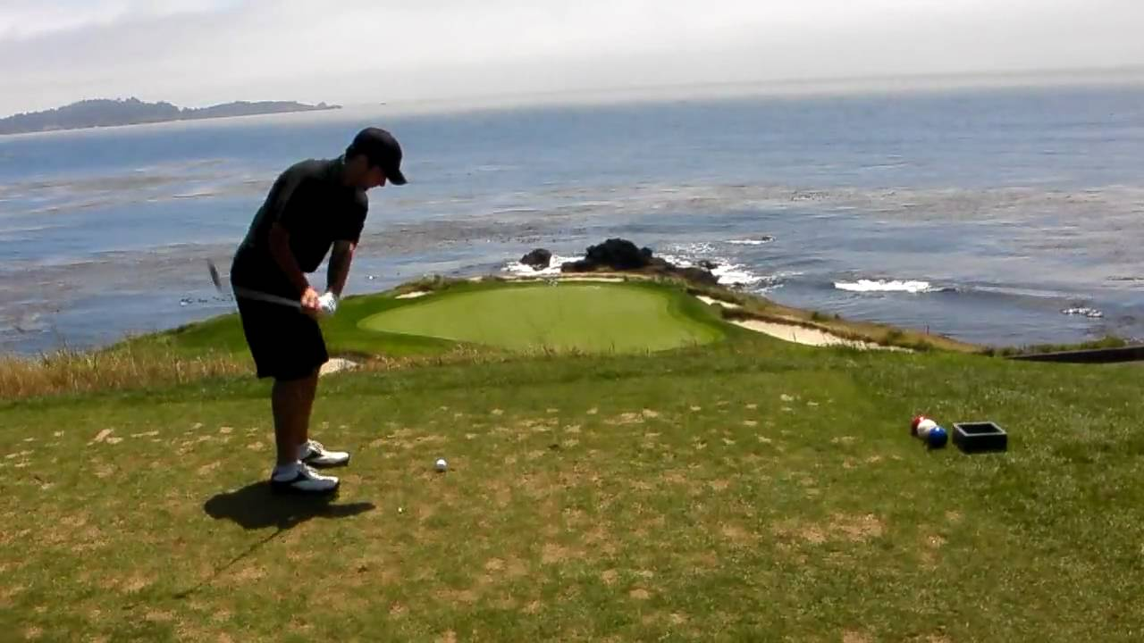 Tee Shot On The 7th Hole At Pebble Beach