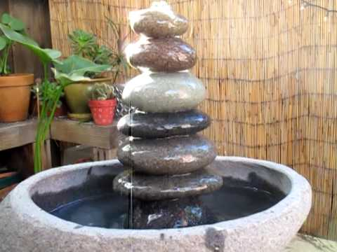Large Cairns Stone Zen Garden Fountain   YouTube