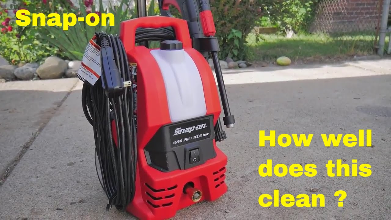 Snap On Pressure Washer Review And Demonstration