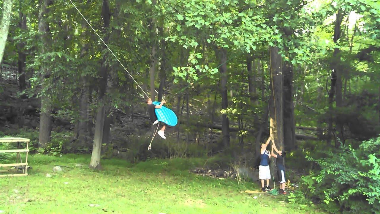 Crazy Backyard Rope Swing