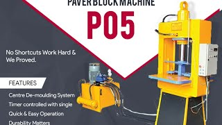Paver Block Machine Model P05 - Himat Machine Tools