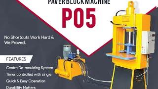 Paver Block Machine Model P05 - Himat Machine Tools