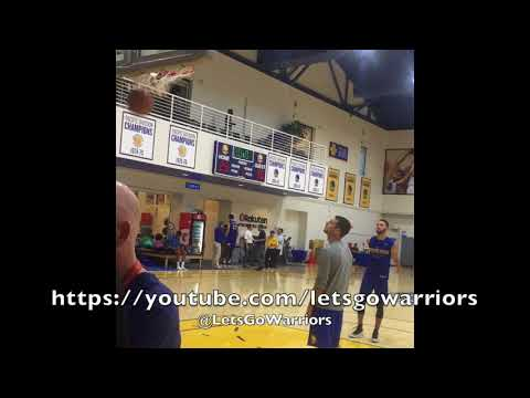 Stephen Curry shoots FTs, dunks, and shoots walk-away shot after Golden State Warriors practice