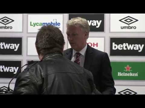 David Moyes press conference interrupted - TWICE!