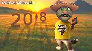 Happy new year best whatsapp Status by Tom cat Tom wish you happy new year with funny comment