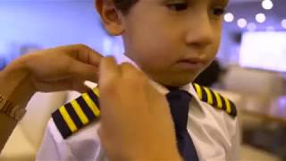 A 6 Year Boy Old Genius Becomes Etihad Airways Pilot for A Day of  A380 Airbus