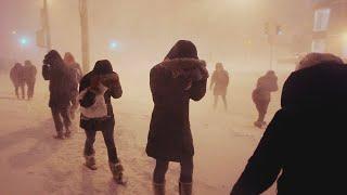 عاصفة ثلجية مهيبة تصاحب احتفالات رأس السنة 2021 شرق روسيا، تشوكوتكا