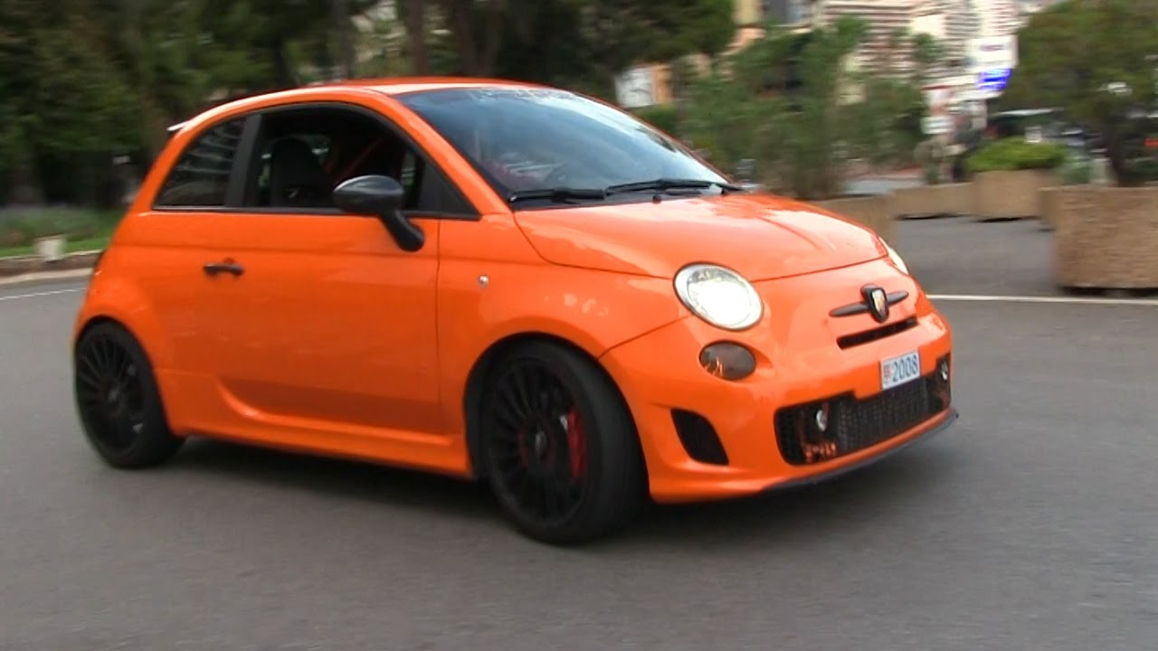 THIS ORANGE ABARTH 500 IS INSANELY FAST! - YouTube