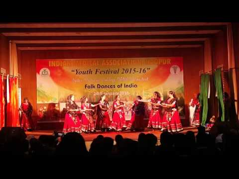 JNMC Sawangi - IMA Nagpur Youth Festival 2016-17 Inter Medical College Folk Dance Contest