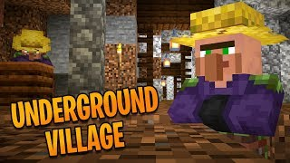 Finding An Underground Village In The Minecraft Cave Update (#2)