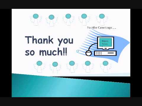 Saying Thank You Online Using Powerpoint And Gifs Youtube