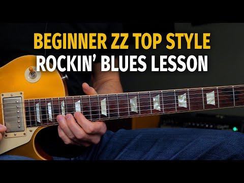 Beginner / Intermediate ZZ Top Style 12 Bar Blues Solo Lesson