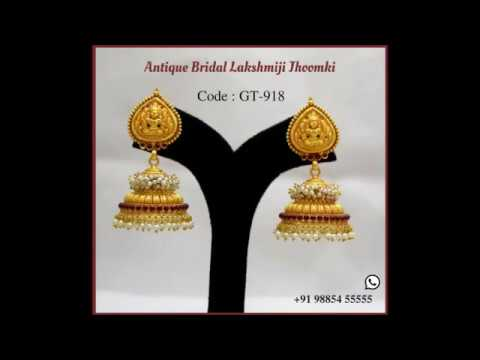 Top Gold Jhumki Designs at best prices from Totaram & Sons Jewellers