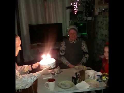 Бабушка 86 лет поздравляет правнучку👍
