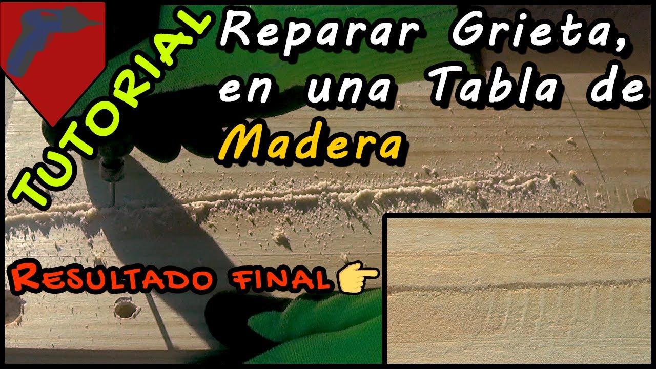 Reparar grieta en tabla de madera con masilla casera youtube - Masilla para reparar madera ...