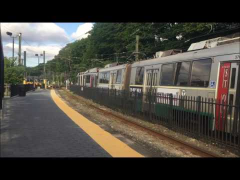 MBTA Green Line Train at Reservoir Station