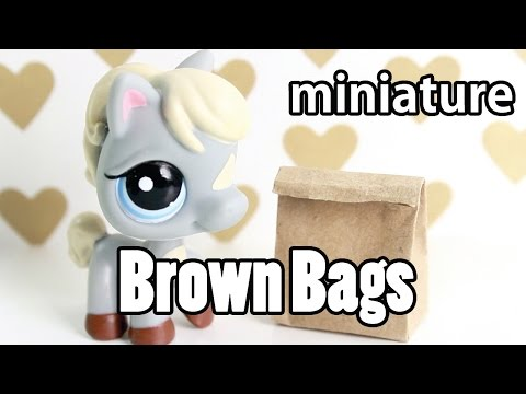 DIY - miniature Brown Bag  for School (REALLY WORKS!)