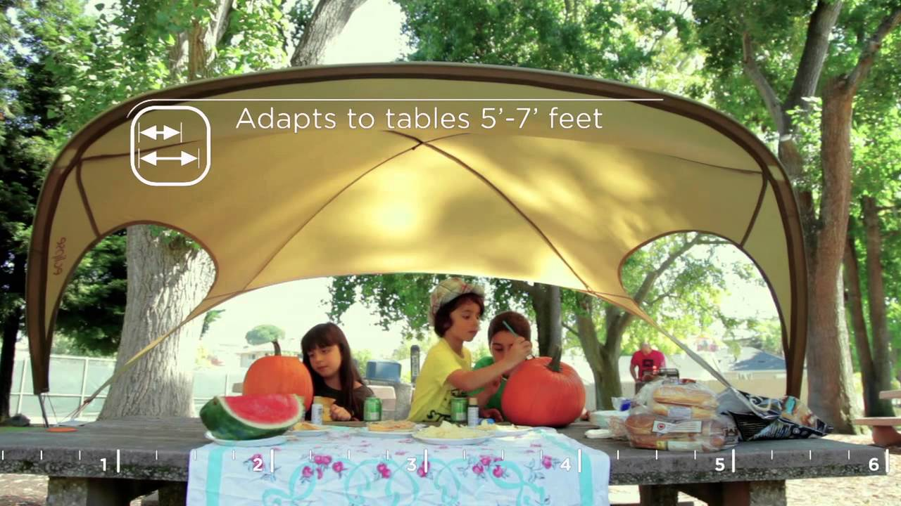& Eclipse: Worlds best picnic table shade on Kickstarter! - YouTube