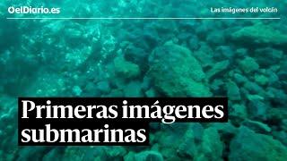 Primeras imágenes submarinas del delta de lava del volcán de La Palma