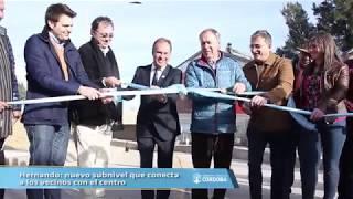 Hernando: nuevo subnivel que conecta a los vecinos con el centro