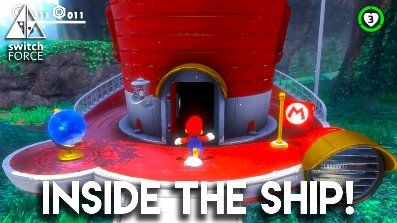 First Look Inside Mario S Hat Ship Super Mario Odyssey Gameplay