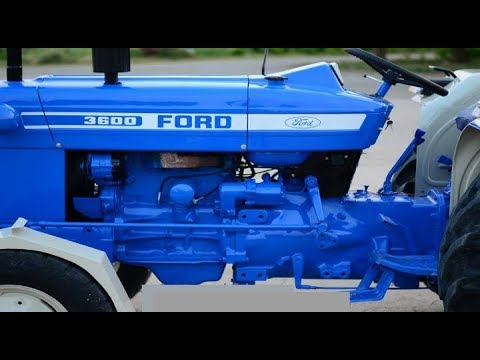Modified Ford 3600 tractor With big tyre and New alloys - YouTube